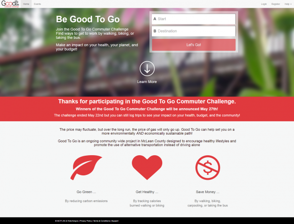Good to Go Challenge website