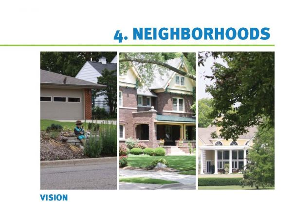 Neighborhoods Chapter from City of Bloomington Comprehensive Plan