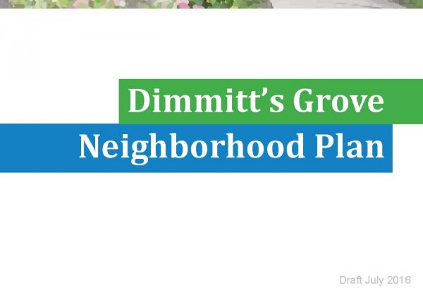 Dimmitt's Grove Neighborhood Plan